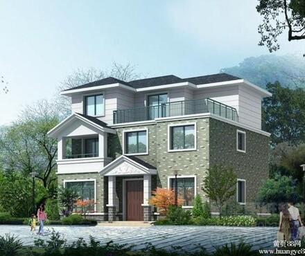 别墅设计图 效果图 农村自建房 屋顶防雷平面图 基础接地平面图