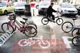 环保型专业为旅游景点给各大公共产所提供的自行车停车架,电动车停放架