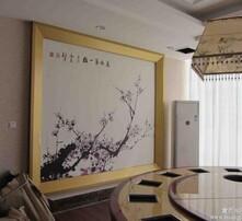 主题餐厅墙纸壁画定做图片