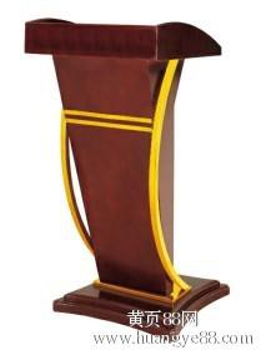 现货供应酒店木质演讲台厂家批发酒店演讲台订做宾馆演讲台