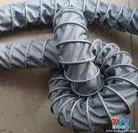 可伸缩夹布风管,夹布耐高温软管,灰色伸缩高温风管