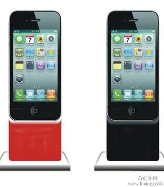 应42寸落地式液晶广告机苹果款超薄型液晶式广告机 -苹果款落地式