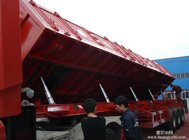 11米长1.5米高一体侧翻自卸半挂车带手续出售