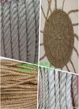大量现货批发麻绳-麻蜡线-三股扭拔河绳-教育用绳-艺术装饰绳图片