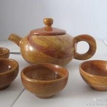 泗水砭石茶具全国包邮砭石茶杯养生原理