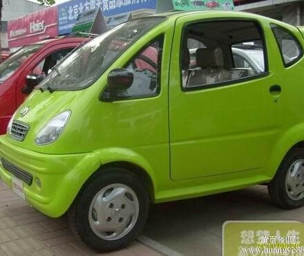【辆价格_比德文电动车电动四轮车电动轿车四轮轿车老年代步车绿色_高清图片
