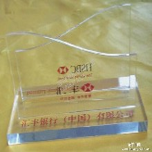 亚克力有机玻璃工艺加工定做办公礼品用品名片盒文件资料架