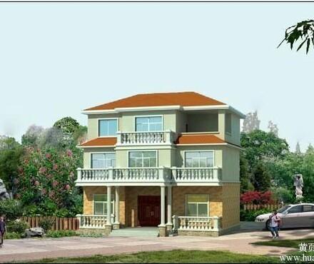 三层别墅设计图农村住宅自建房屋施工图效果图