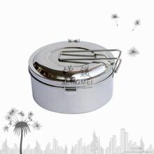 不锈钢圆型饭盒不锈钢单层便当盒双夹盖扣饭盒