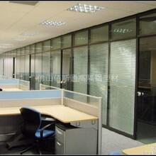 供应办公室双层单层玻璃隔断百叶隔断