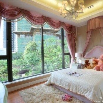 女孩房装修搭配,无锡软装设计,女儿房软装设计,女儿房窗帘软包 联系