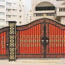 供应凉城典雅新颖铸铁围墙玛钢球墨铸件护栏凯旋大门图片