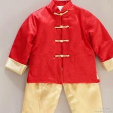 中式棉袄新年唐装男童套装