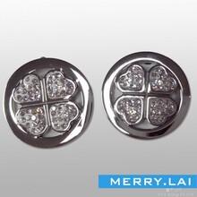 四叶草精美耳环,镶钻钛钢耳环,不锈钢耳环饰品图片