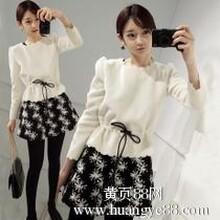 2014春装新款连衣裙韩版女装修身长袖秋冬毛呢打底裙子两件套装女