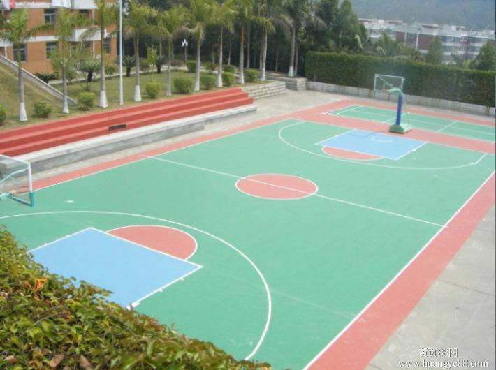 武汉硅PU篮球场施工