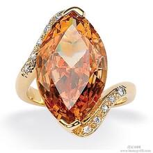 人工镶嵌AAA锆石戒指铜银饰品工厂饰品定制加工