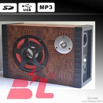 【供应汽车小家电影音低音炮12V可插SD卡,U盘,MP3_汽车低音炮高清图片