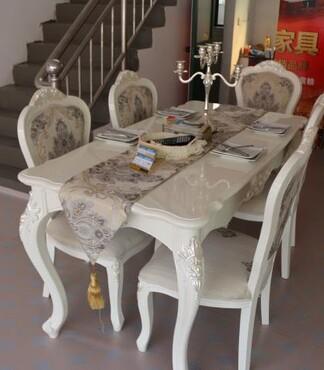 【北欧丽木实木家具欧式餐桌椅一桌六椅欧式家具哪家好_一桌六椅价