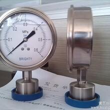 北京布莱迪压力表山东布莱迪卫生型卡箍式隔膜压力表