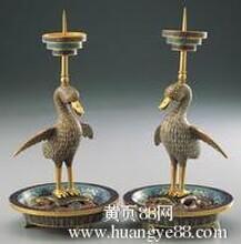清乾隆年间宫廷御用铜胎珐琅器掐丝珐琅烛台一对拍卖最新行情查询