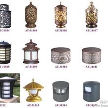 柱头灯图片和围墙柱头灯图片及太阳能柱头灯