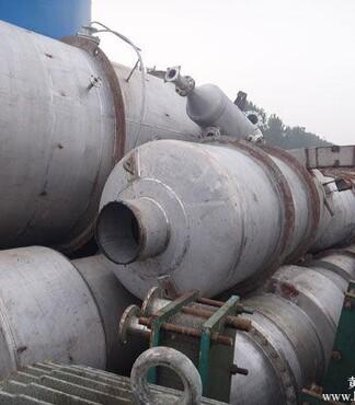 二手三效4吨降膜蒸发器 -蒸发器