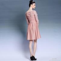 礼服,晚礼服,短款晚礼服,粉色礼服图片