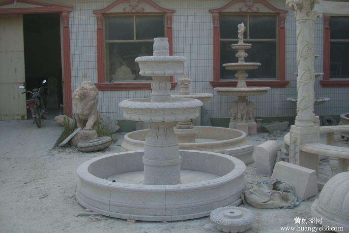 纯手工打造大理石喷泉