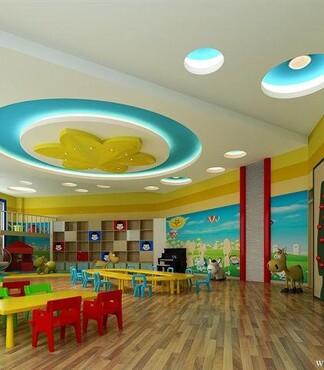 幼儿园室内外墙围墙手绘图案效果图设计装修