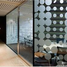 北京玻璃贴膜写字楼私密膜磨砂膜刻字
