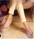 欧美新款潮鞋夏季新款鱼嘴纯手工水钻宝石鱼嘴高跟鞋高跟凉鞋