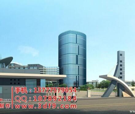 【效果图报价_厂房鸟瞰效果图设计,规划鸟瞰图设计制作公司,杭州