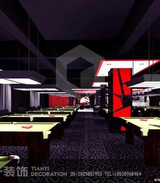 流行网吧台球厅装修设计预算清单