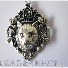 加工定制锌合金古锡色吊坠饰品骷髅头配件图片