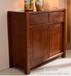 现代中式风格全实木餐边柜高端大气纯柚木餐柜厂家直销可定制