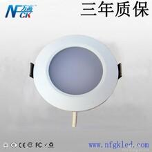 供应LED筒灯3W筒灯深圳方高照明筒灯正品压铸铝白色平面筒灯图片