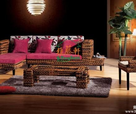 藤轩藤家具藤椅藤沙发组合客厅休闲三人藤艺转角欧式