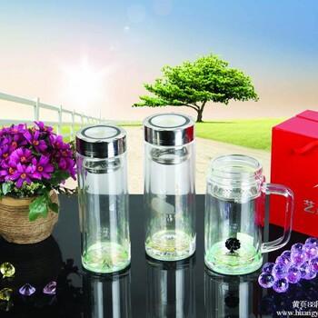 【洛阳水晶商务礼品喝水杯广告纪念礼品水杯高档喝水杯双层玻璃水晶