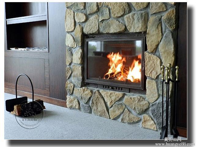 供应长沙嵌入式真火燃木壁炉——恺撒图片