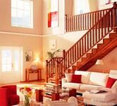 艺极楼梯—美式简约实木楼梯图片