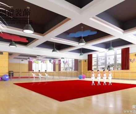 合肥舞蹈房装修舞蹈教室装修舞蹈学校装修舞出精彩 -合肥舞蹈房装高清图片