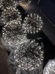 TomDixonEtchWeb蚀刻网状金属吊灯不锈钢钻石多边球工程灯具图片