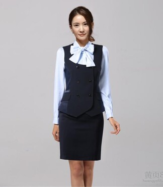 【清丰中餐厅服务员工作服工装定做中国风红色