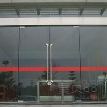 西城区安装地弹簧玻璃门西单定做合页玻璃门