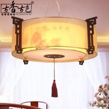 古香古色中式吊灯牡丹花灯具新古典灯茶楼羊皮吊灯