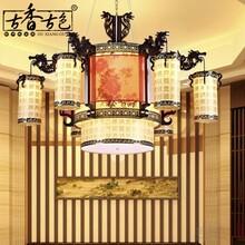 古香古色中式大吊灯茶楼工程灯复古大堂客厅灯复式楼客厅大吊灯