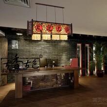 古香古色灯订制古典中式吊灯吧台吊灯餐厅吊灯长方形中式吊灯