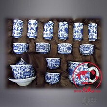 手工青花瓷茶具套装送礼茶具锦盒装景德镇茶具陶瓷厂