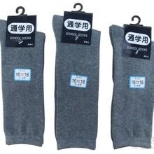 纯色学生袜白色中筒袜子长筒及膝袜子批发纯棉儿童袜子条纹中筒学生及膝袜百搭图片